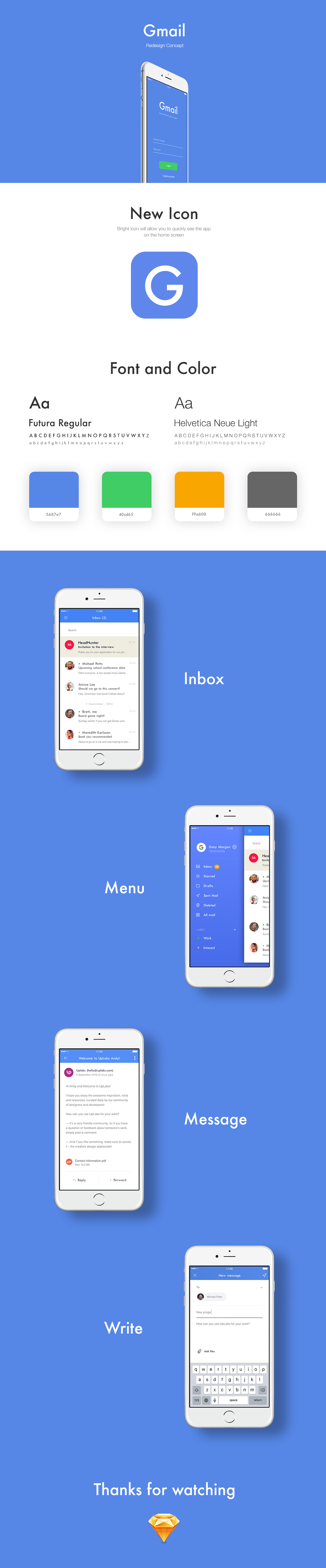 Gmail Redesign Concept - Sketch on Behance