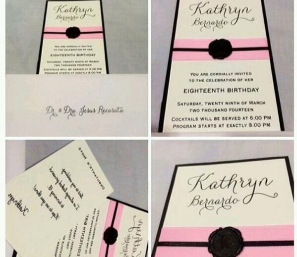 kathryn whiteside bernardo's debut invitation  ♥