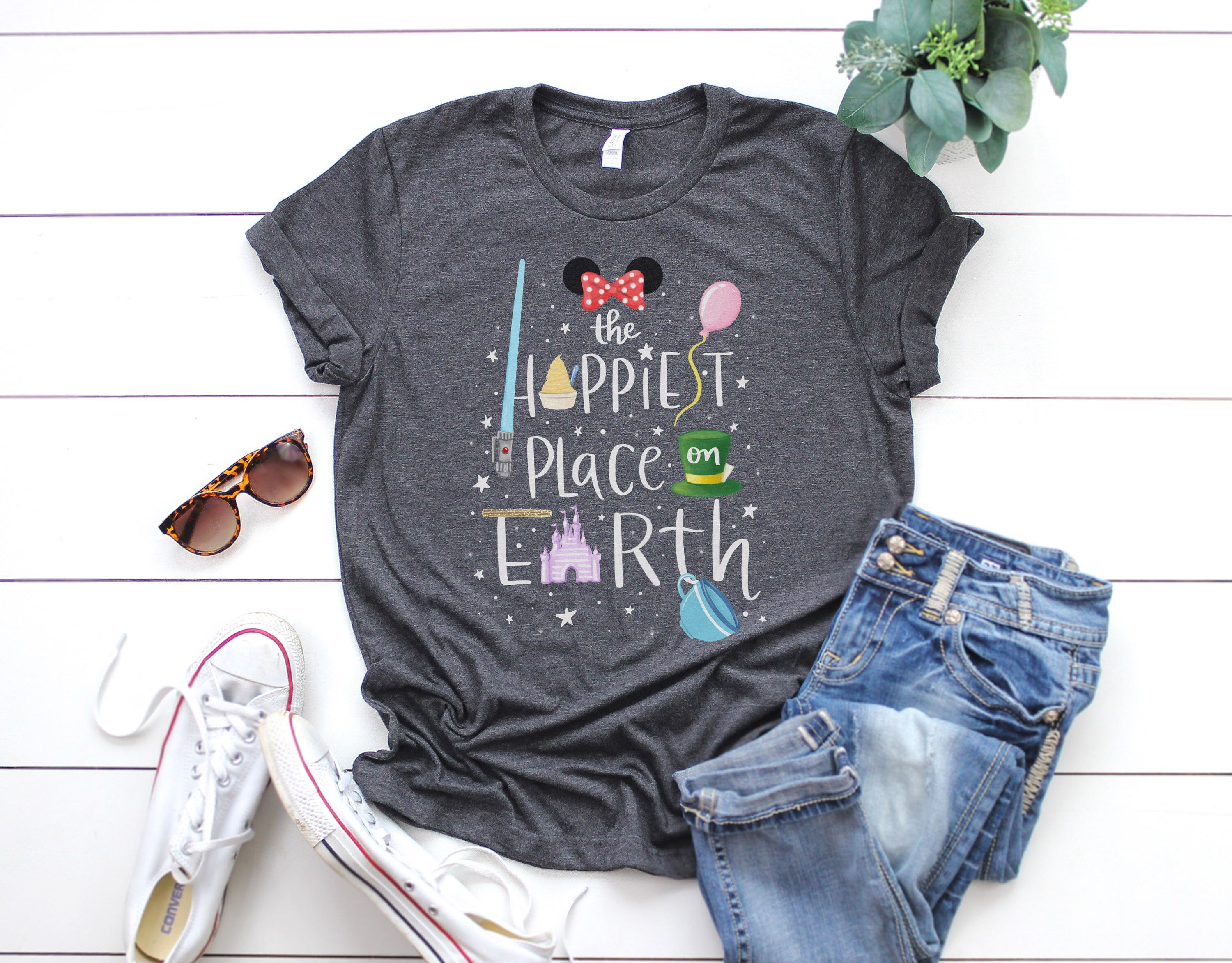 The Happiest Place on Earth Disney Mickey Unisex TShirt