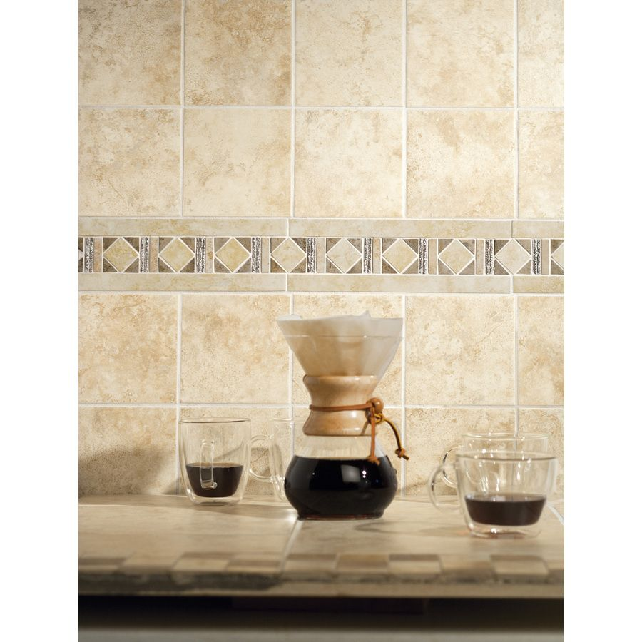 Allen roth glazed wall chocolate ceramic bullnose trim common 1 - Shop Style Selections Capri Classic Glazed Porcelain Indoor Outdoor Wall Tile Common 6