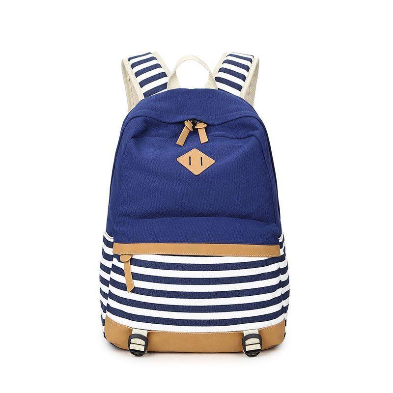 2b851c116bf4 Canvas Backpack Striped Women Bagpack Teenagers Backpacks For Teenage Teen  Girls Youth Feminine Backpack Girl Mochila