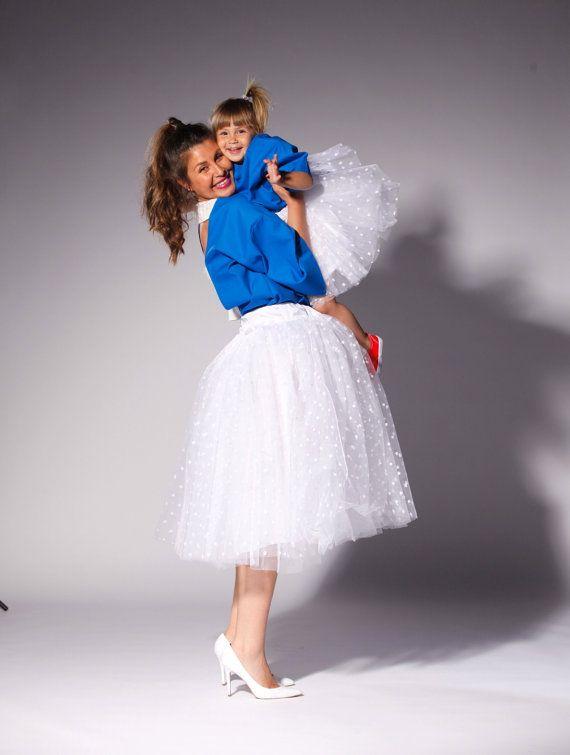 b90a410e4b MOMMY AND ME OUTFIT...White Tutu skirts set Mama and Mini set / by  cherryblossomsdress, $119.00