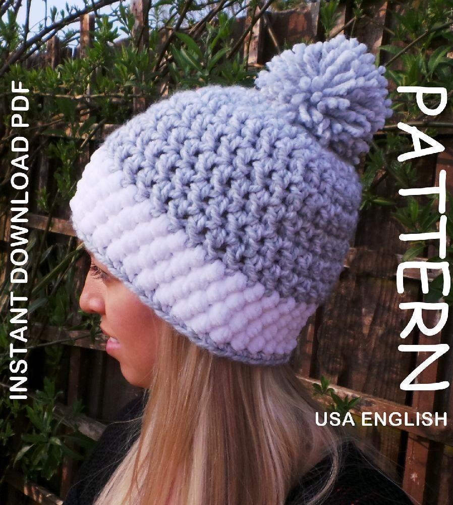 c3ae8c852dd Crochet hat pattern Nordic Snow Hat USA Crochet pattern by Kerry Jayne  Designs