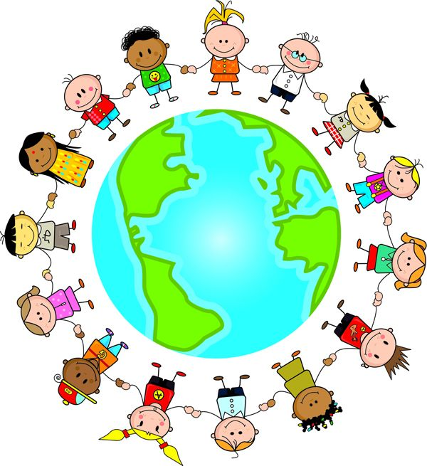Image result for children in circle around the world