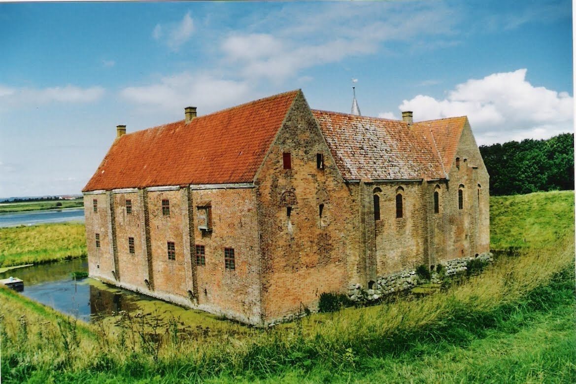 Salling, Spøttrup Castle build around 1404 - Church and Manor in Denmark: Gammellund, Mors, North Jutland, Thisted amt.