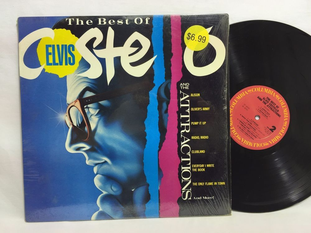 The Best Of Elvis Costello And The Attractions Lp Vinyl Record In Shrink Elvis Costello Vinyl Records Elvis