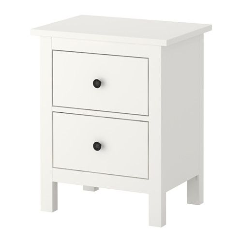 Hemnes Commode 2 Tiroirs Blanc Meuble Rangement Ikea Mobilier De Salon Et Ikea Hemnes
