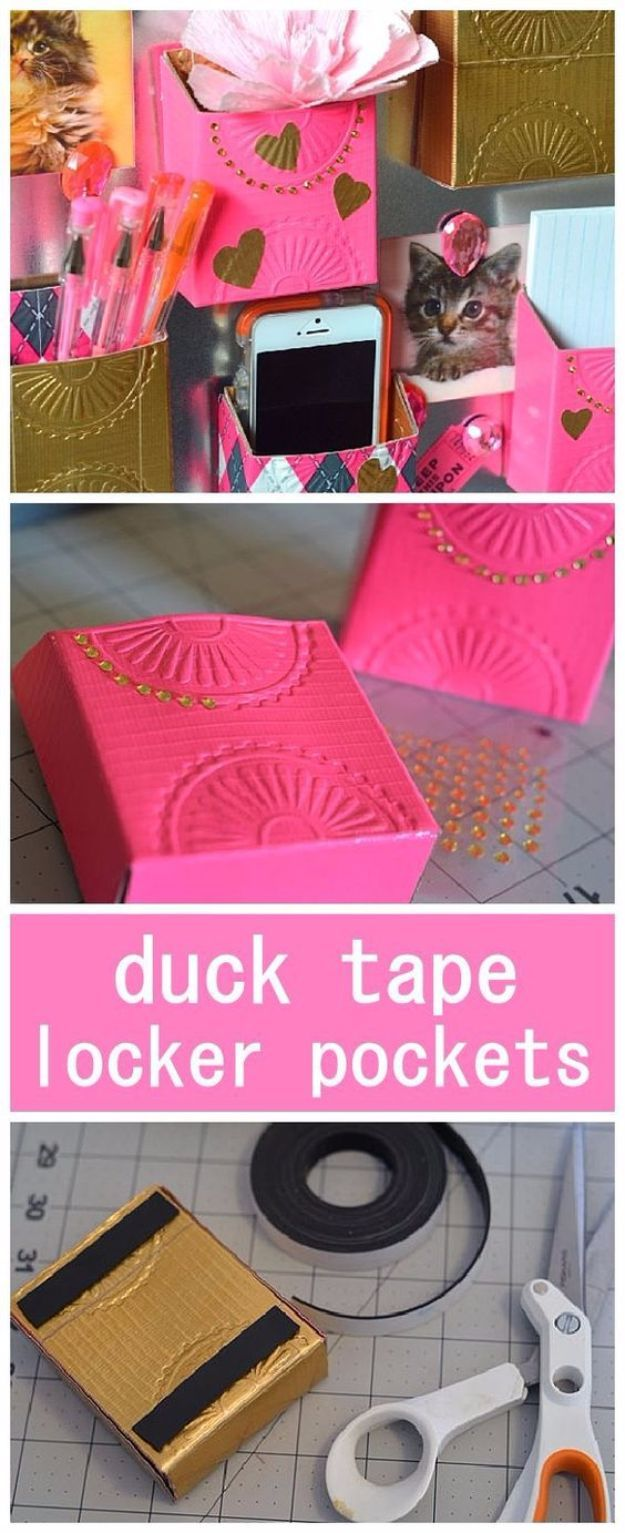 50 best back to school diy ideas diy school supplies diy school diy school supplies diy duct tape locker pockets easy crafts and do it yourself solutioingenieria Image collections