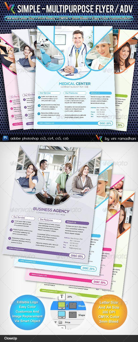 Simple Multipurpose Flyer Or Adv #GraphicRiver Simple