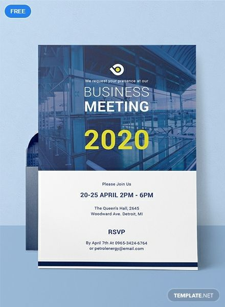 Free Business Meeting Invitation Corporate invitation