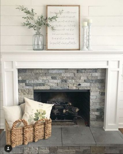 Photo of 56 Trendy farmhouse fireplace makeover