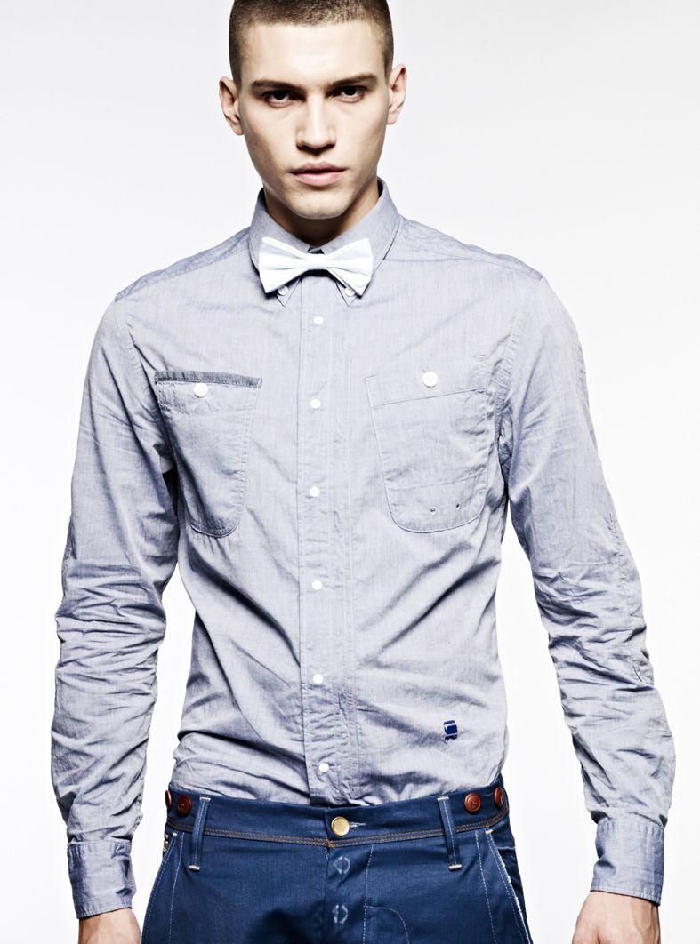 Gstar raw new bd shirt bowtie 13000