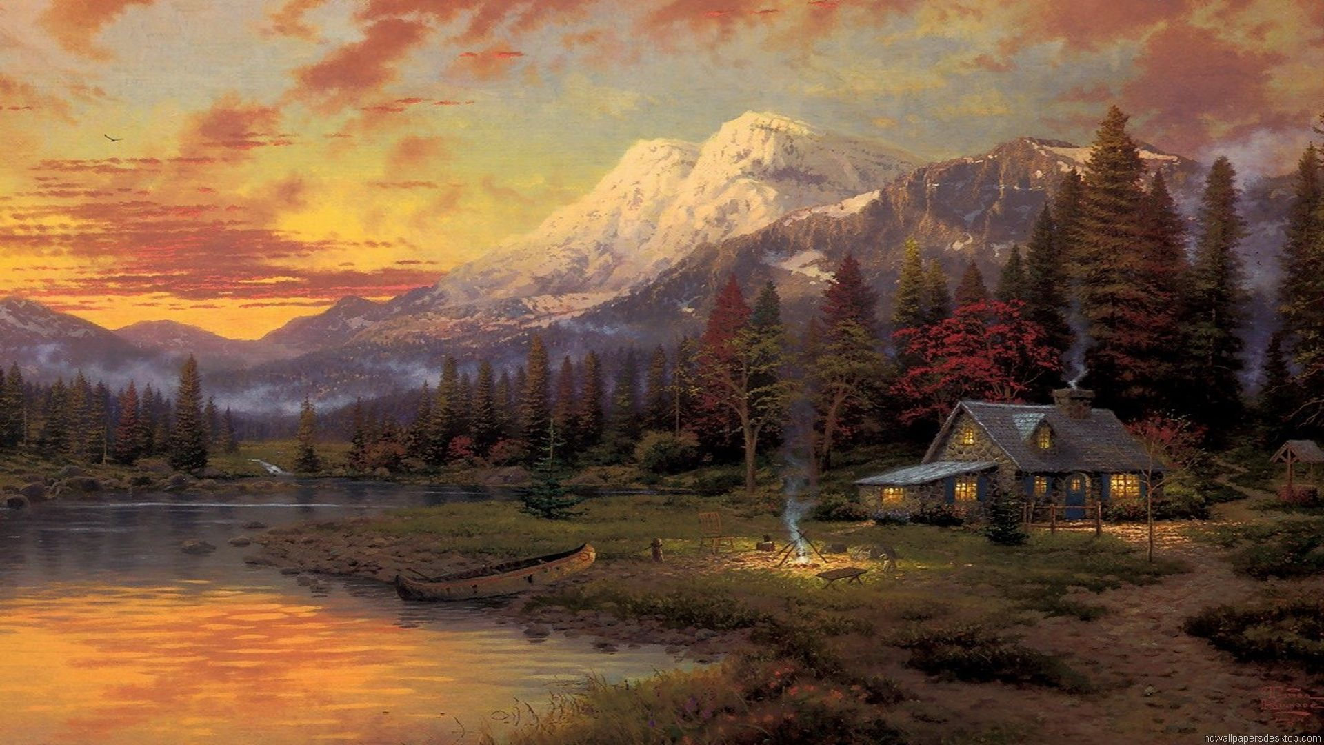 thomas kinkade paintings Thomas Kinkade Wallpaper