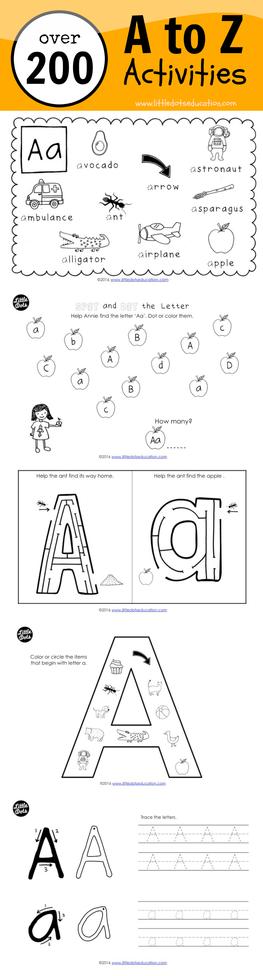 Download And Get Over 200 Pages Of A To Z Activities And Worksheets