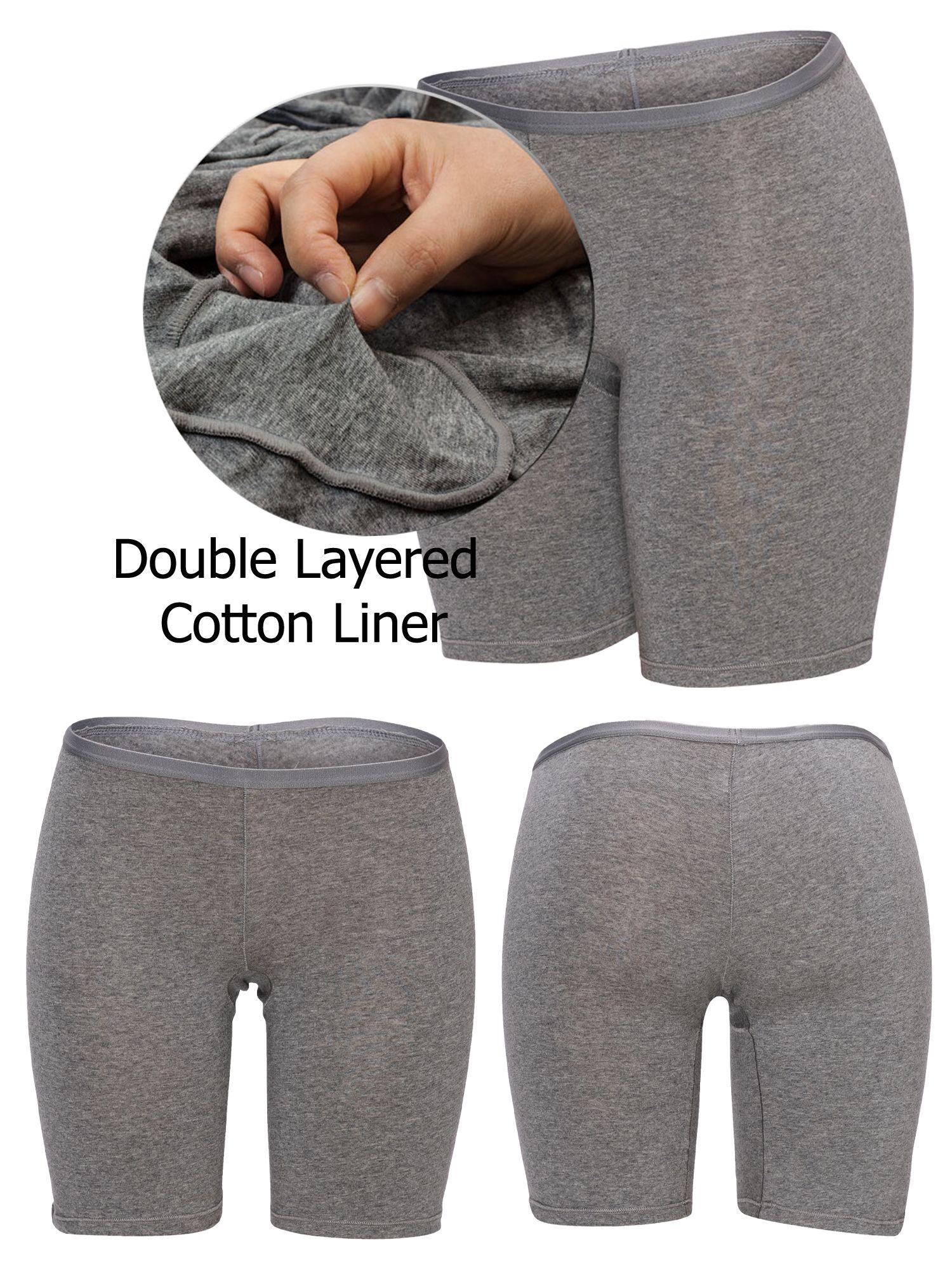 B2BODY Womens Regular /& Plus Size Stretch Cotton Long Leg 6.5 Boyshort Briefs