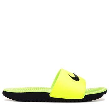 231c17988fece6 Nike Kids  Kawa Slide Sandal Pre Grade School Sandals (Volt Black)