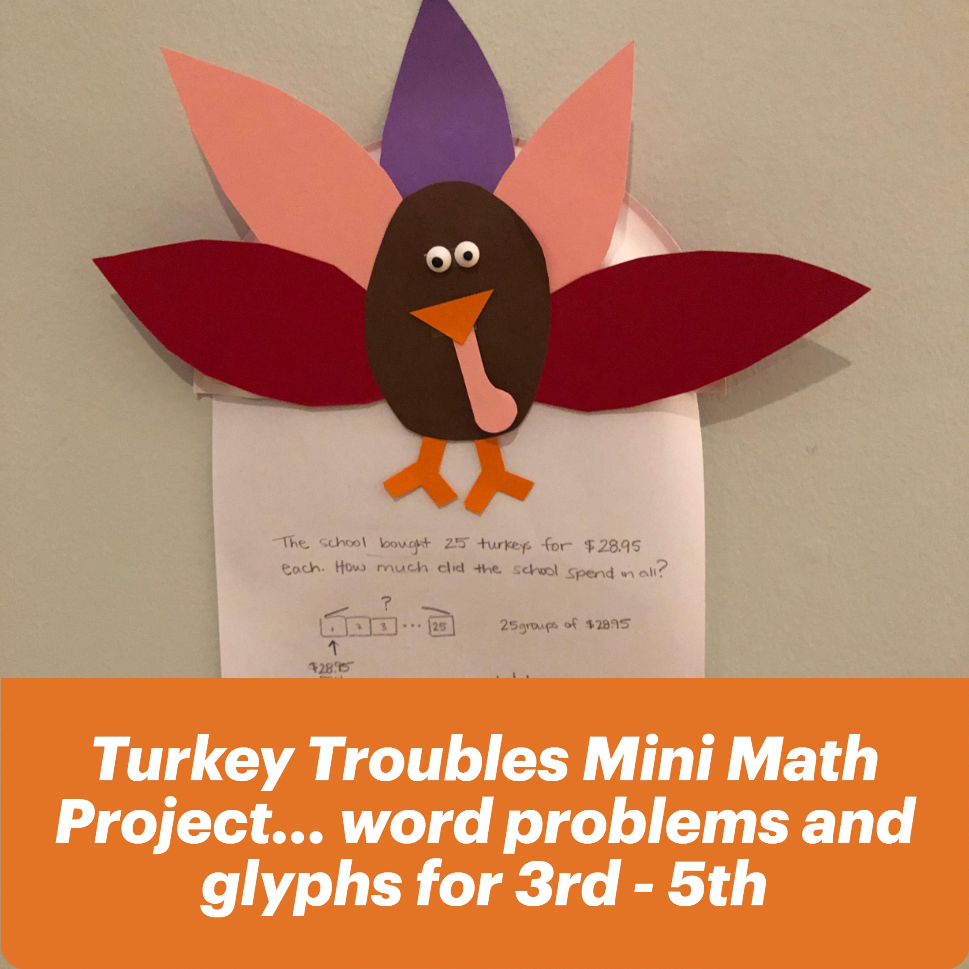 Turkey Trouble Mini Math Project