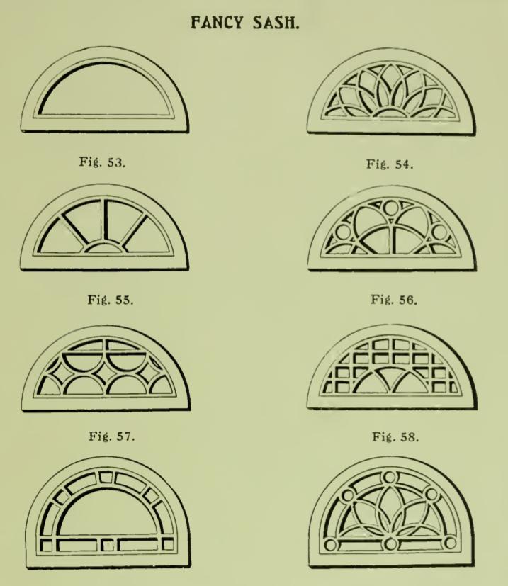 Fancy Half Round Windows From 1904 Rockwell Millwork Catalog