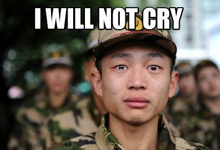 Meme Crying Soldier I Will Not Cry
