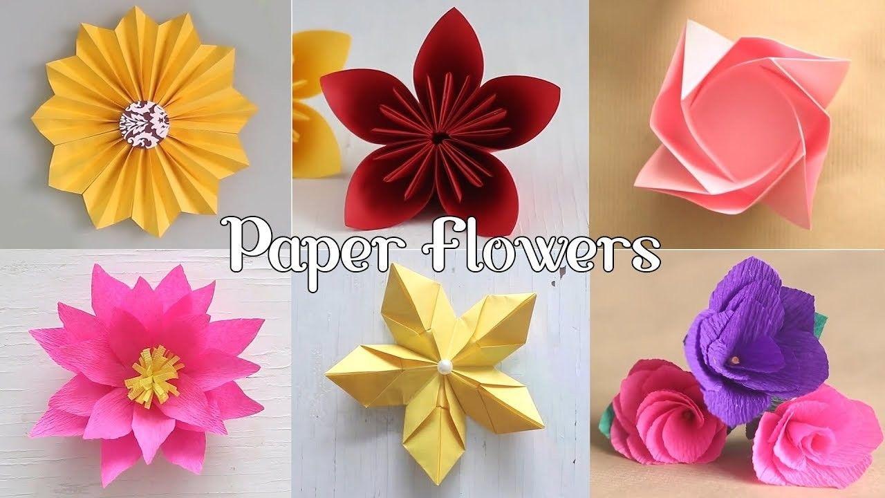 6 Easy Paper Flowers Paper Flowers Easy Paper Flowers Flower