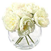 Artificial Flowers Plants John Lewis Fish Bowl Vases Buy Peonies Artificial Flowers And Plants