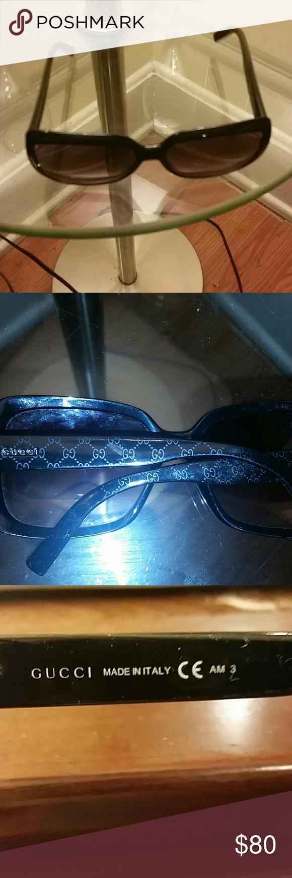 GUCCI sunglasses Black Gucci gg monogram sunglasses. Picture 4 shows the flaws. Gucci Accessories Sunglasses