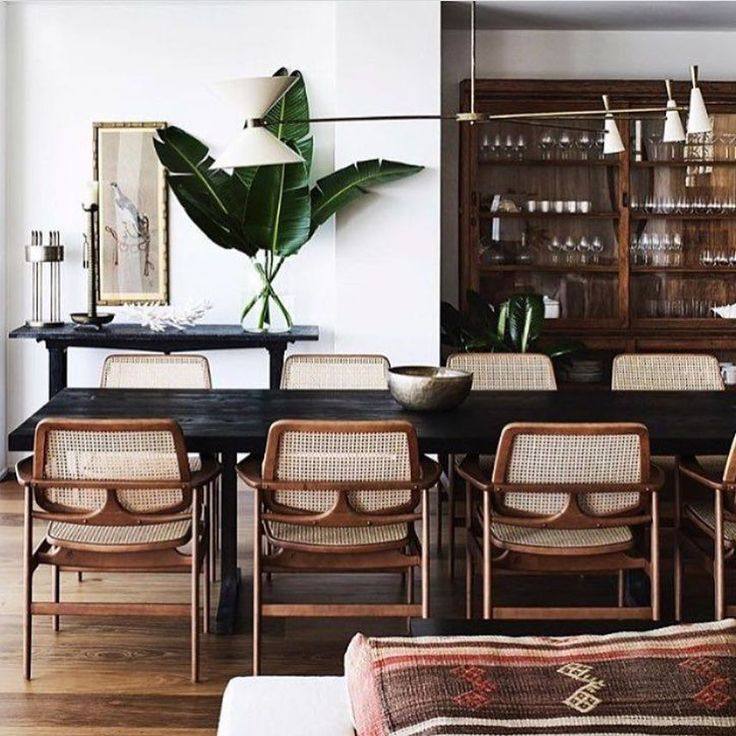 Dining Room Curtains To Create New Atmosphere In Perfect: 33 Modern Rattan Chair Design Ideas For Your Dining Room