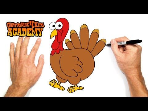 How To Draw A Cartoon Thanksgiving Turkey Easy Cartoon Style Drawing Tutorial For Kids Youtube Turkey Art Drawing Tutorials For Kids Turkey Drawing