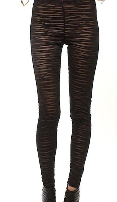 Ooh La La Private Label. Banded leggings in Black.