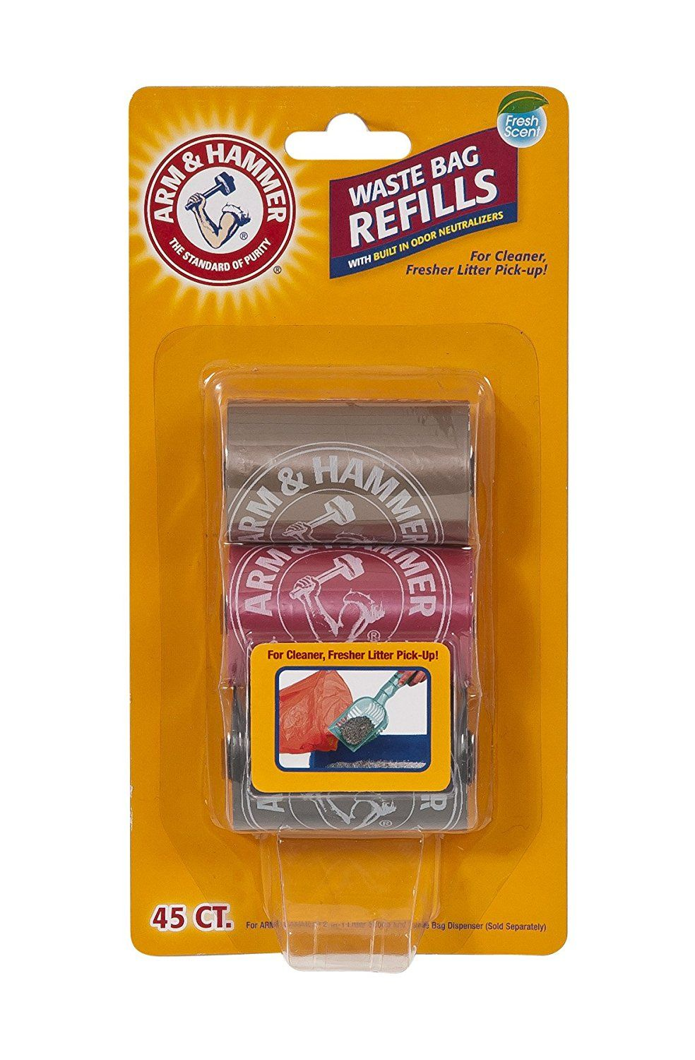 ARM and HAMMER LITTER SCOOP WASTE BAG 3CT REFILLS >>> Stop