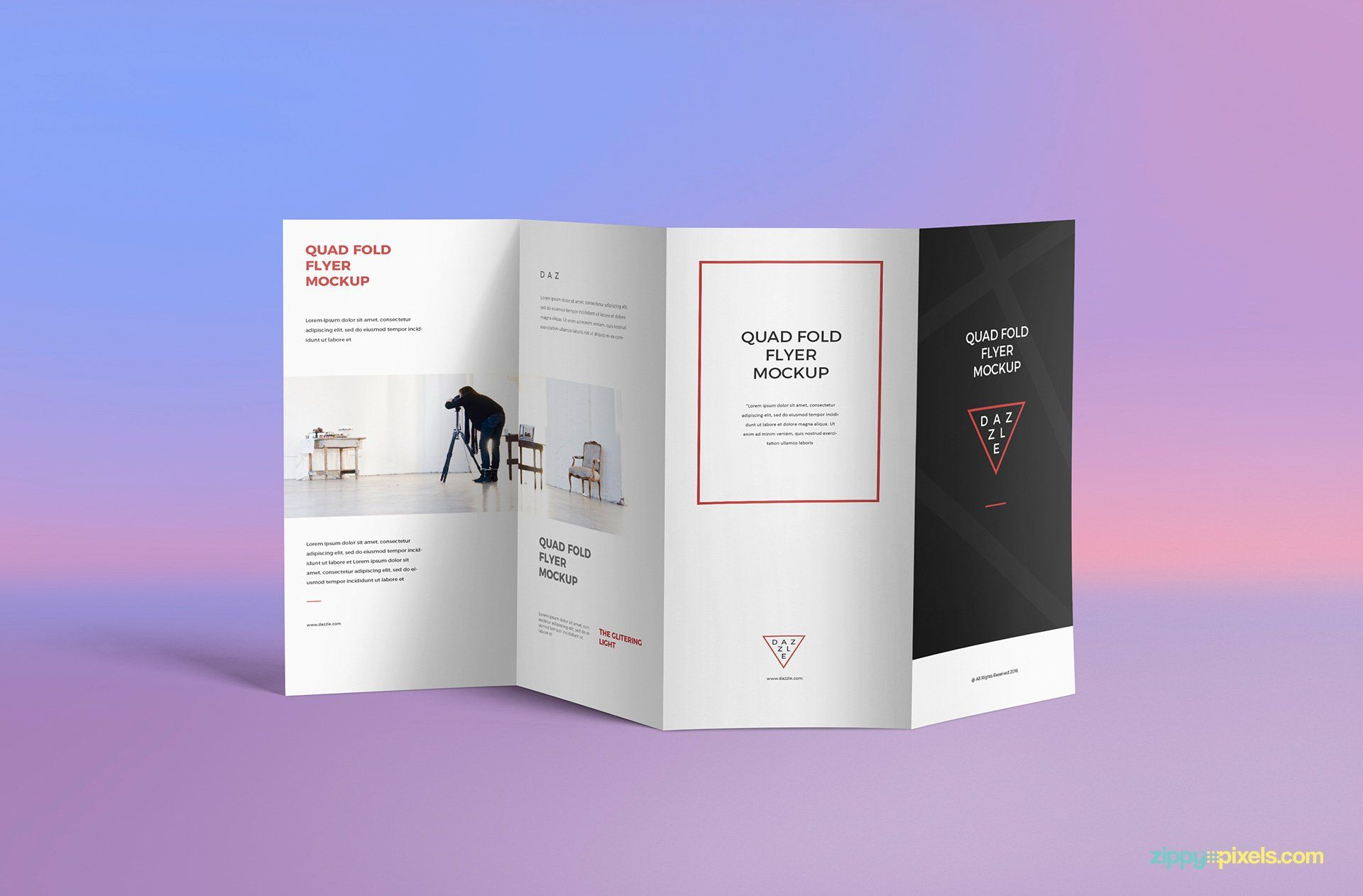 Free 4 Fold Brochure Psd Mockup Brochure Psd Brochure Mockup Free Brochure Design Template