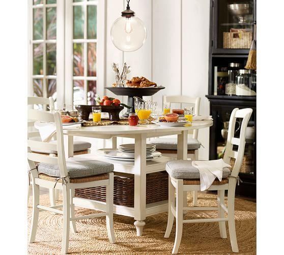 Shayne Drop-Leaf Kitchen Table, Antique White | Kitchen ...