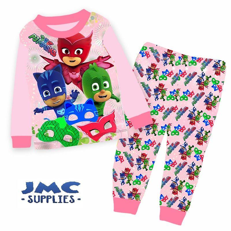 PJ Masks 2 PC Short Sleeve Pajama Set Boy Size 5T
