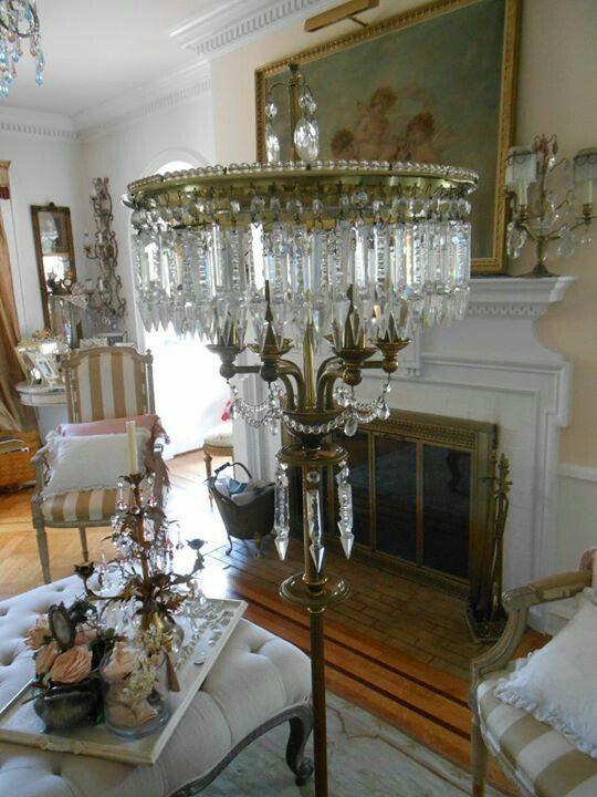 Crystal*~❤•❦•:*´`*:•❦•❤~*lamp... chandelier lamp