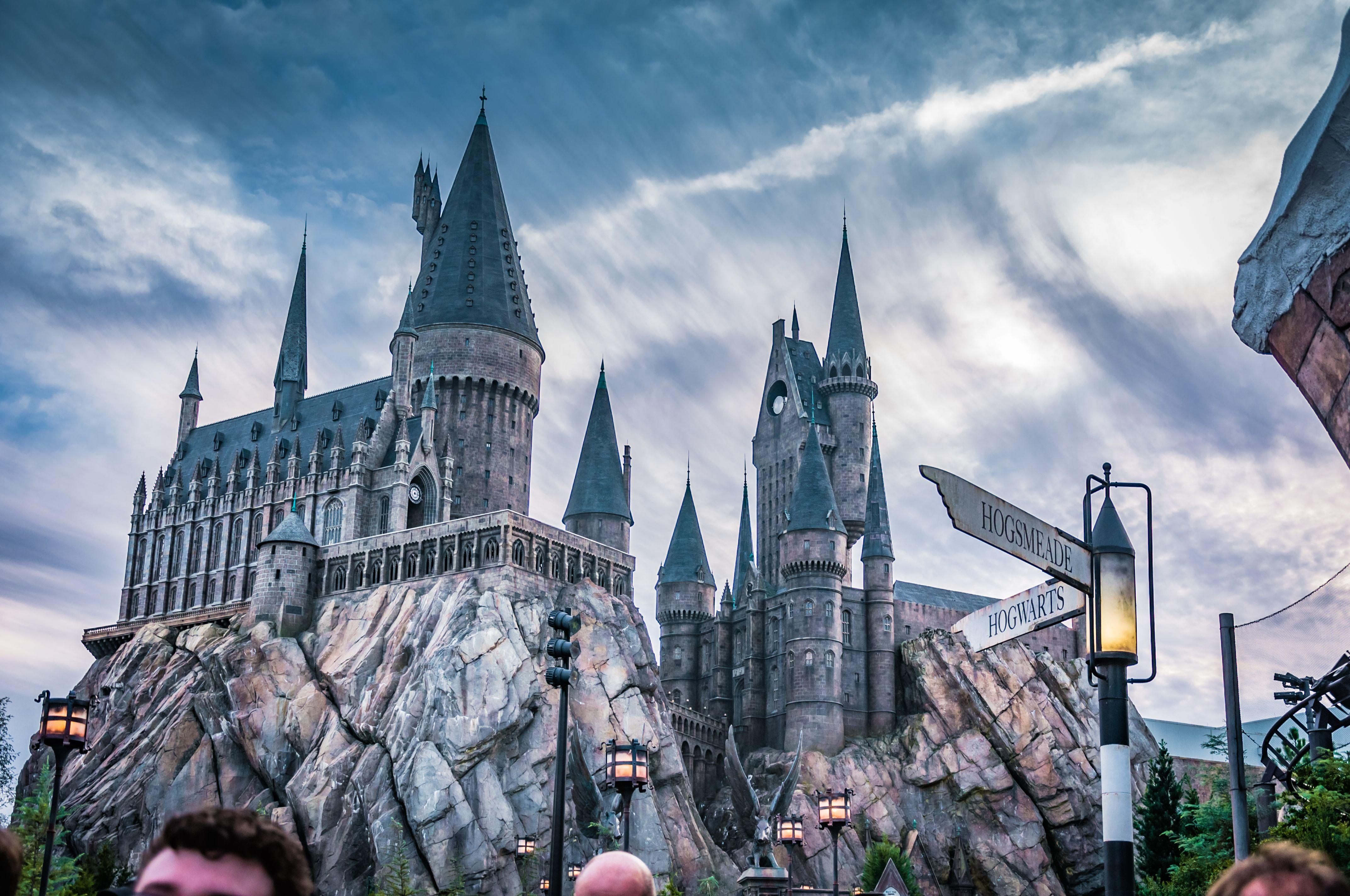Universal Studios Florida Harry Potter Hogwarts Castle Harry Potter Hogwarts Castle Universal Studios Hogwarts Castle