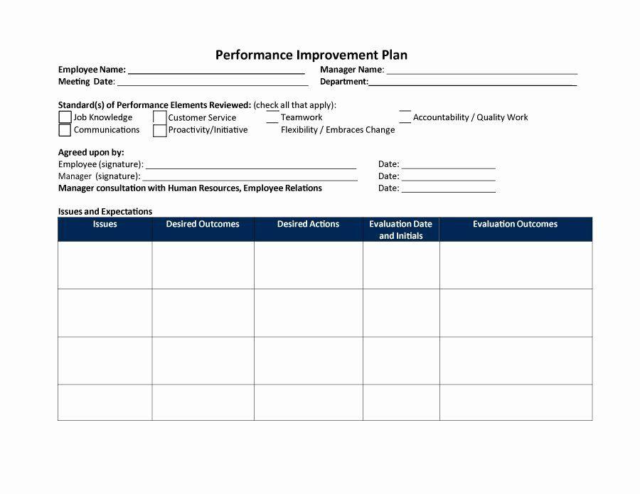 Performance Improvement Plan Template Excel New 40 Performance Improvement Plan Templates Action Plan Template Business Plan Template Free Process Improvement