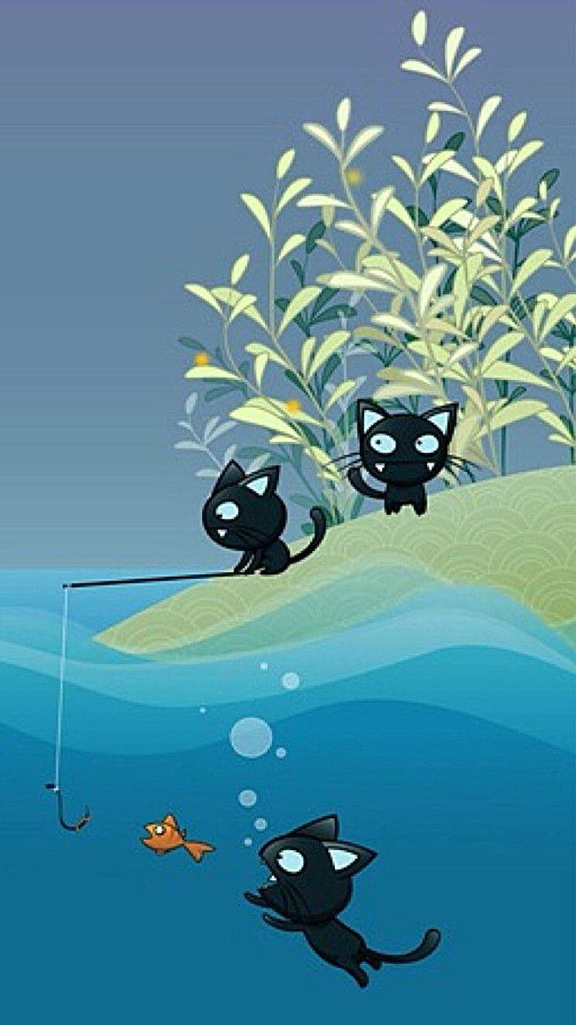 Silhouette Art Design Cartoon Background Funny Iphone Wallpaper Best Iphone Wallpapers Wallpaper Iphone Cute