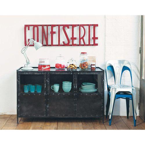 Bureau industriel maison du monde latest collection for Container maison du monde