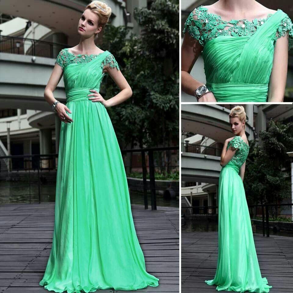 Elegante vestido verde clothes pinterest evening party short