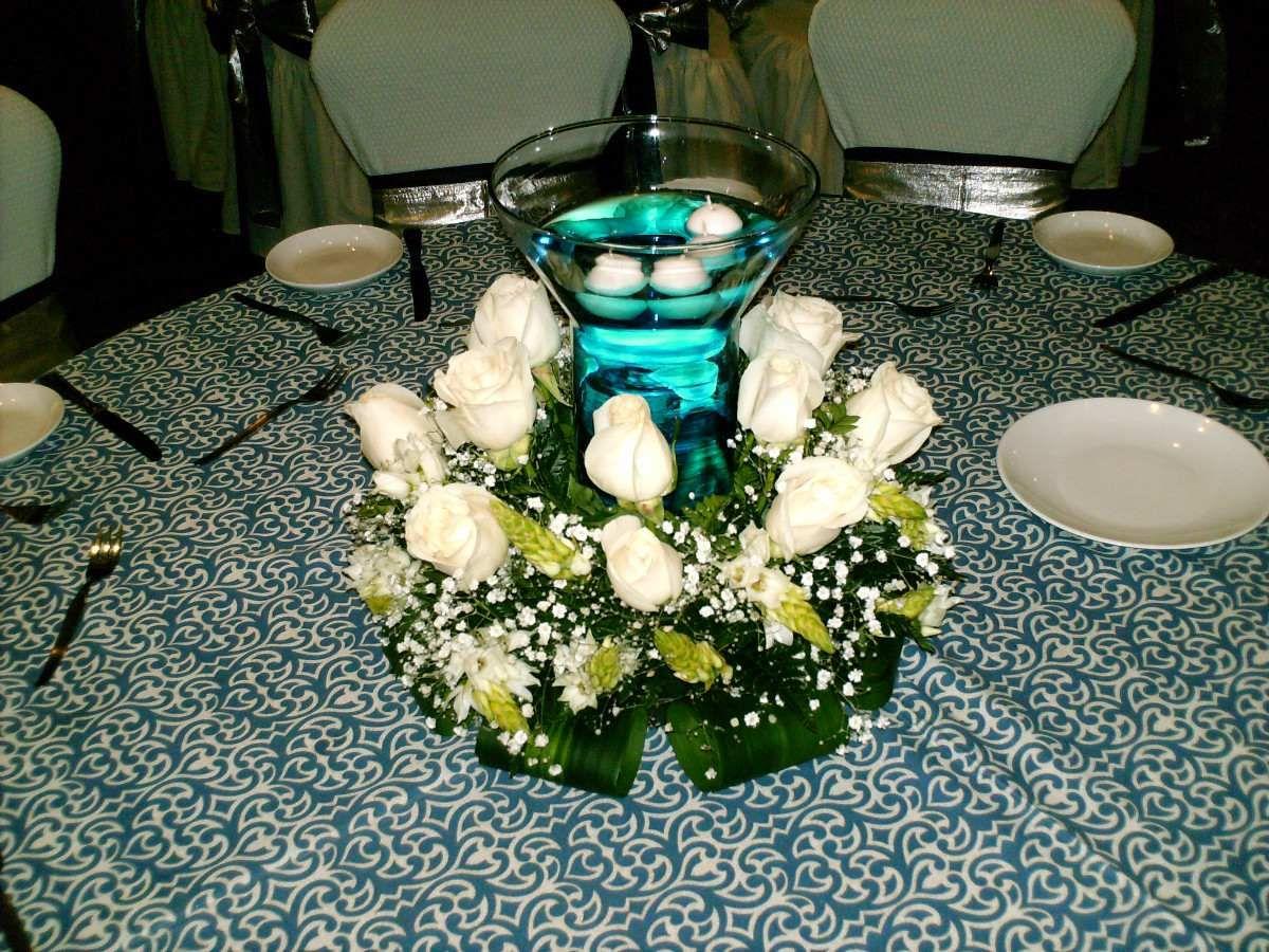 Adornos de mesa para bodas fotos de centros de boda for Adornos d mesa para boda