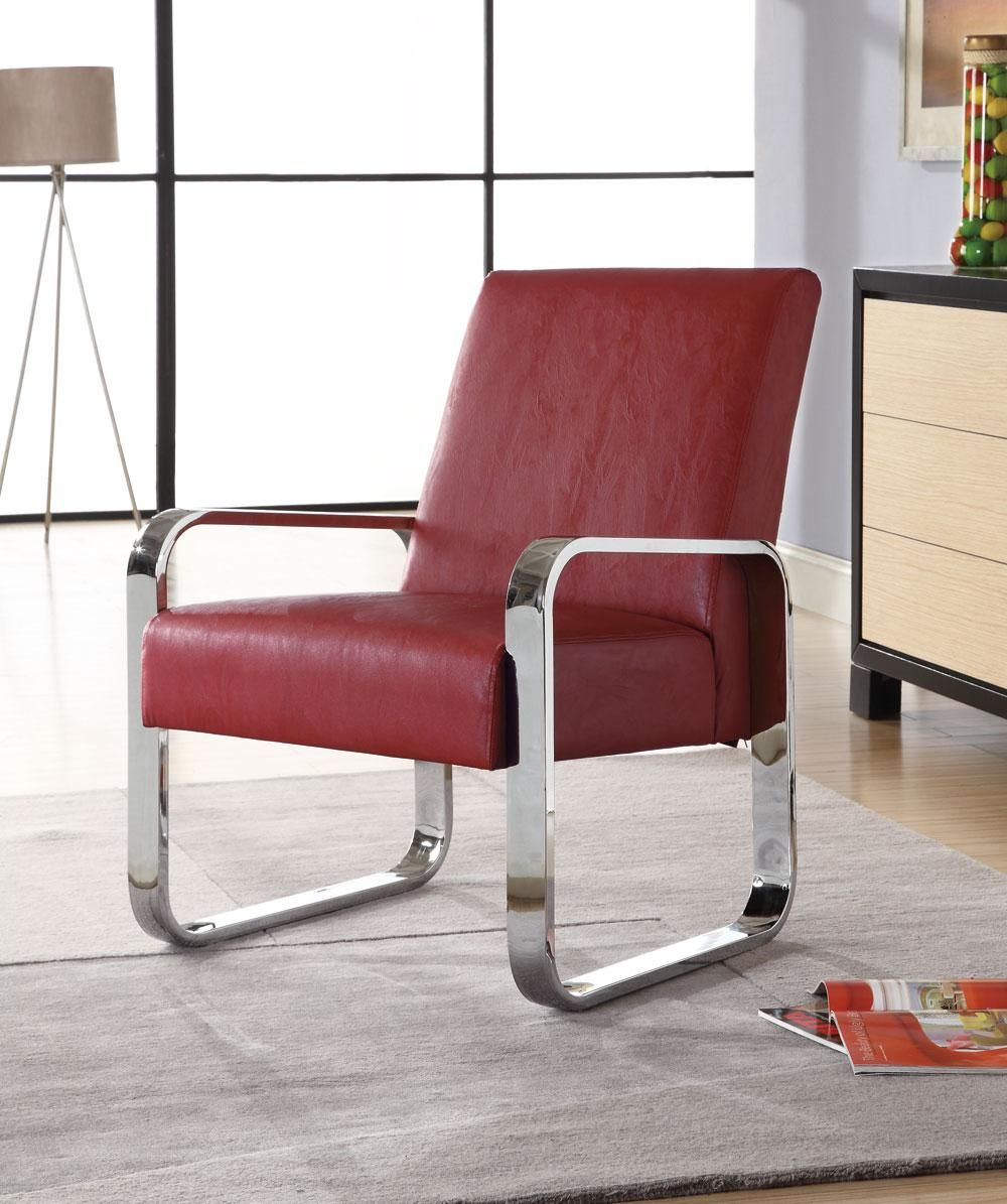 Contemporary Red Chair Furniture Coaster Furniture Fabric