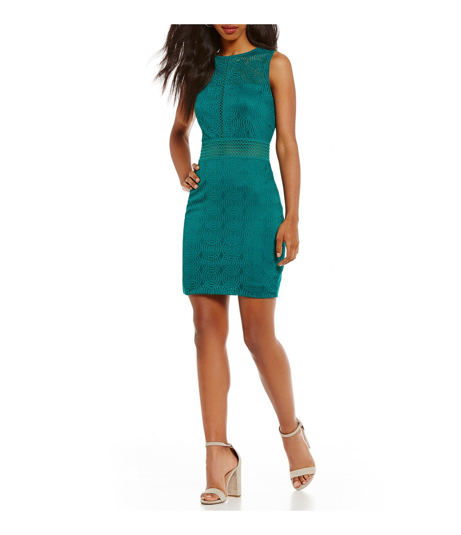 Jodi kristopher circlepattern lace sheath dress lace sheath dress