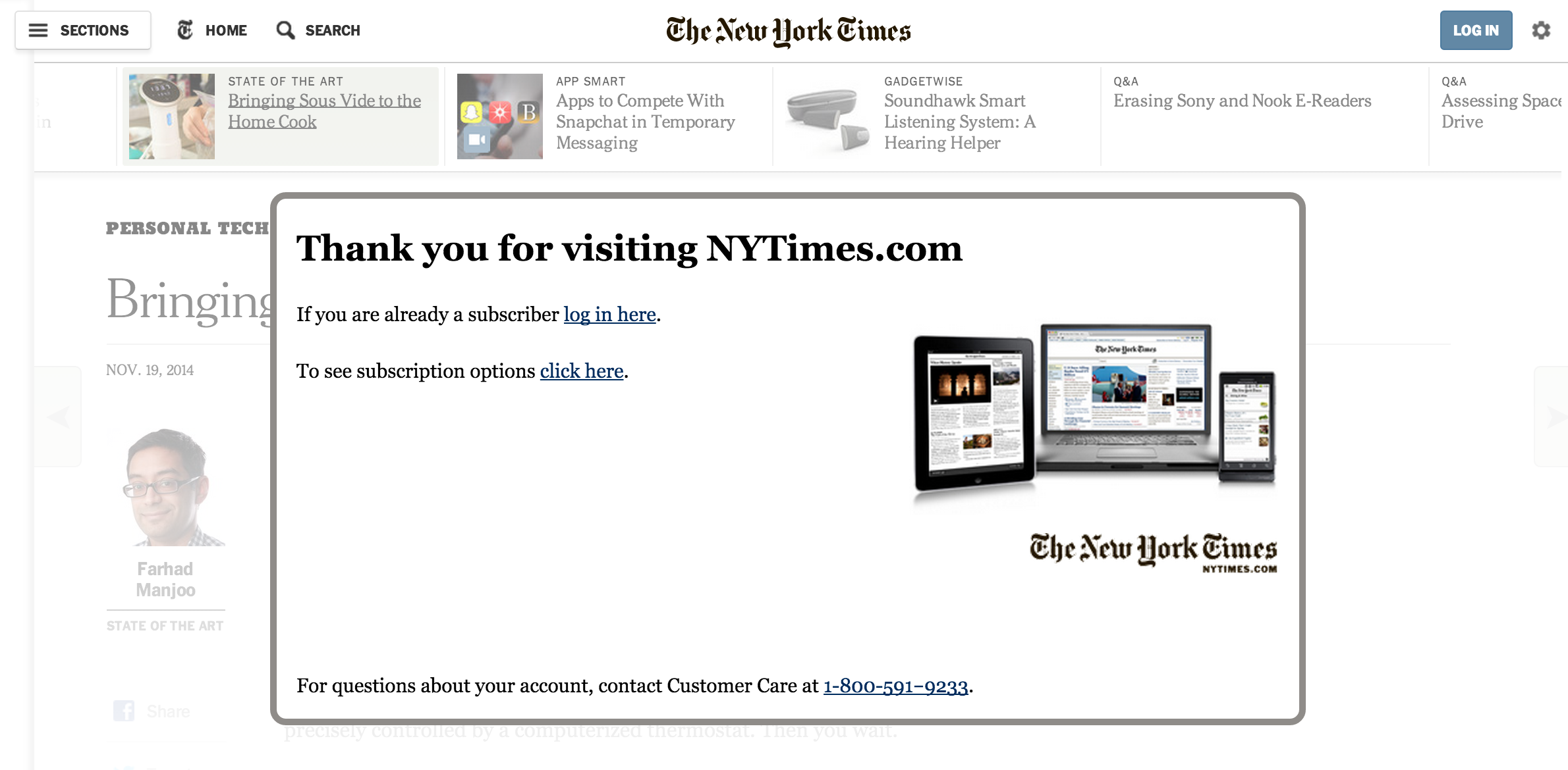 How to bypass The New York Times and Wall Street Journal's Paywall