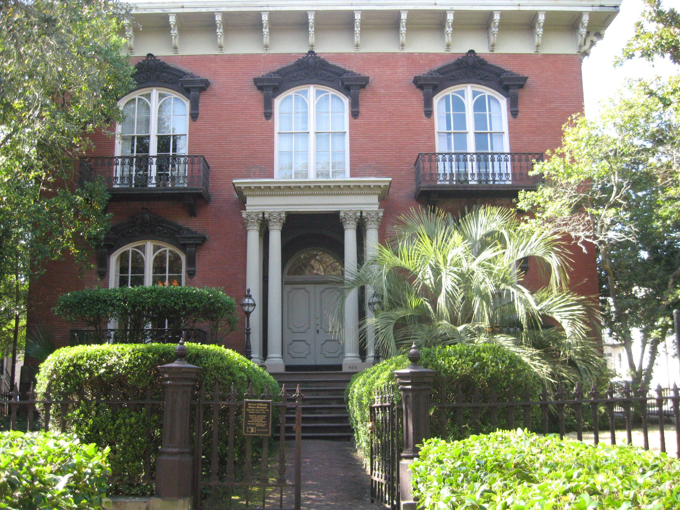 Johnny Mercer House Savannah Ga Travel Fun Mercer House