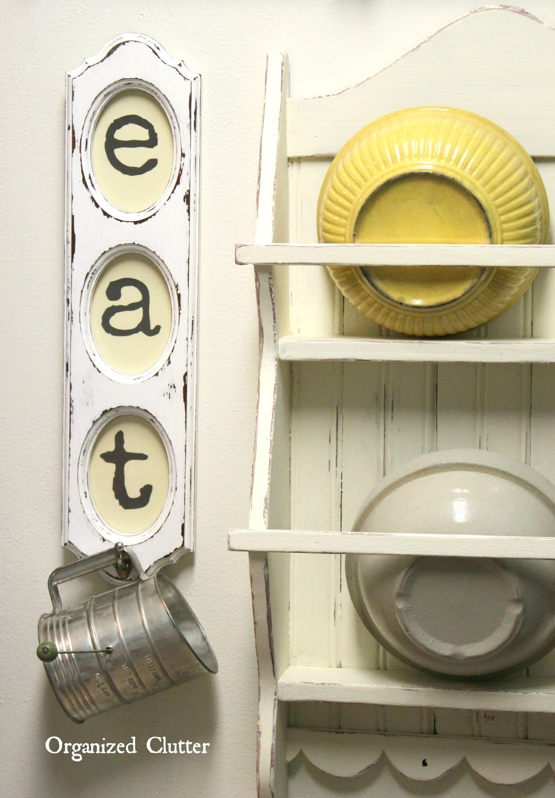 Rummage sale frame upcycled into kitchen fun anizedclutter