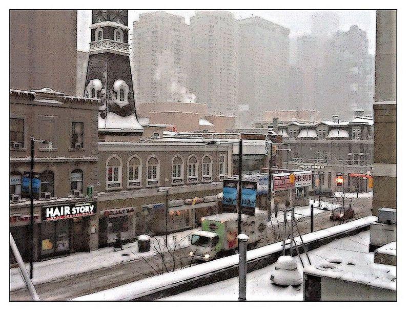 Modified Photo Younge Street, Toronto, Ontario December