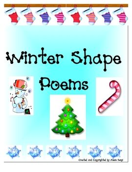This sampler contains 5 ready to go winter shape poem templates the this sampler contains 5 ready to go winter shape poem templates the templates are snow man mitten winter hat christmas tree cand maxwellsz