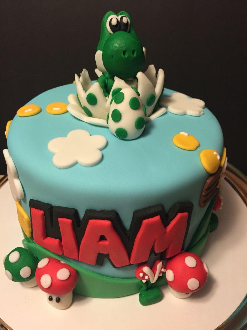 Fantastic Yoshi Cake With Images Mario Birthday Cake 7Th Birthday Cakes Funny Birthday Cards Online Necthendildamsfinfo