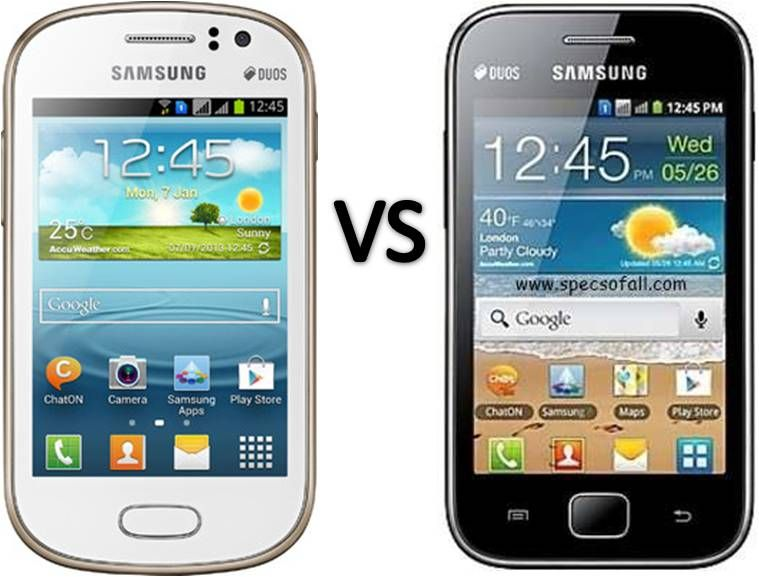 Compare Samsung Galaxy Fame vs Galaxy Ace Duos