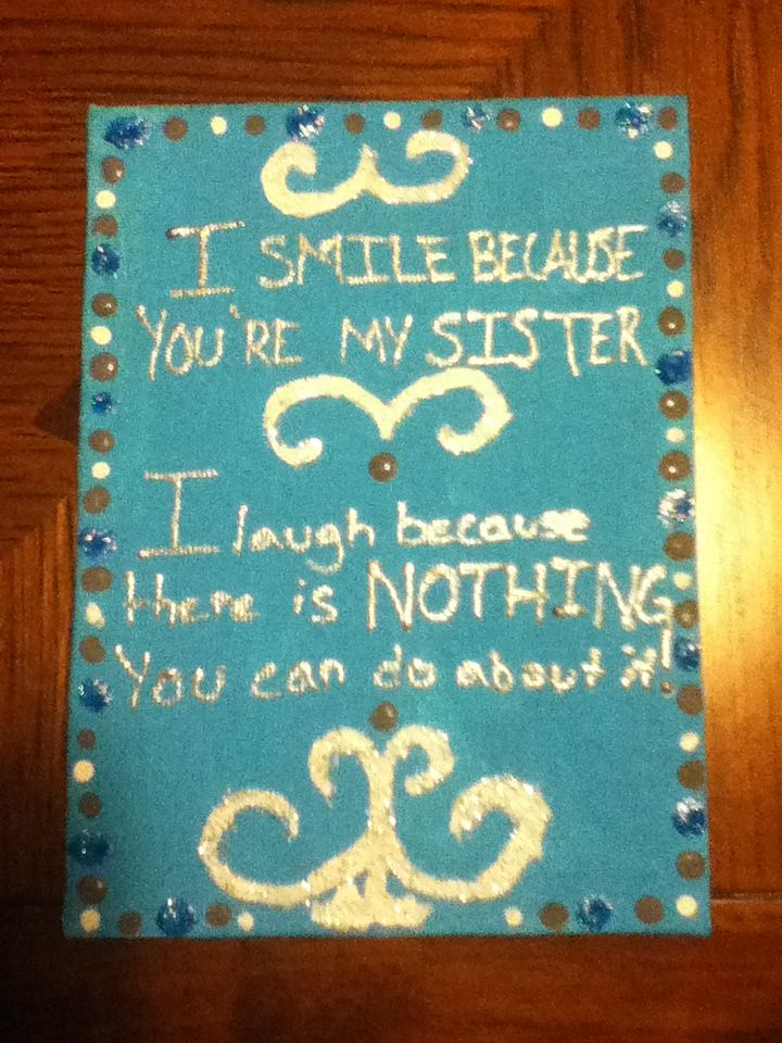 A Little Present For My Sister